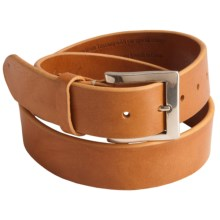 Bill Lavin Hand-Finished Belt - Italian Leather (For Men) in Natural - Closeouts