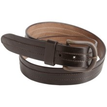 Bill Lavin Italian Leather Belt with Overlay (For Men) in Brown - Closeouts