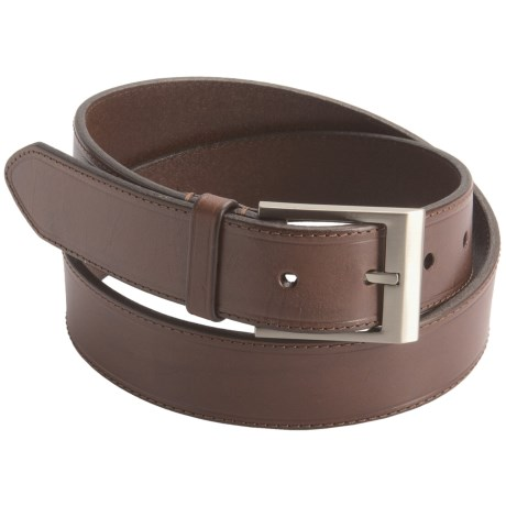 Bill Lavin Leather Belt (For Men) in Burnished Brown
