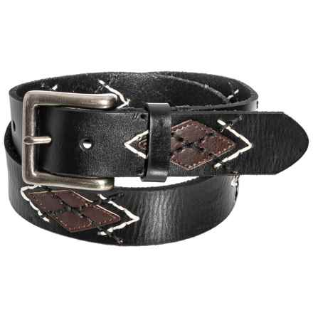 Bill Lavin Leather Island Embroidered Belt (For Men) in Black - Closeouts