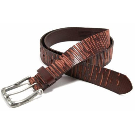 Bill Lavin Leather Island Neri Belt - Leather (For Men) in Red