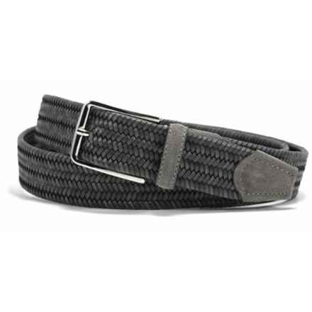Bill Lavin Leather Island Quinton Braided Belt - Calfskin (For Men) in Grey - Closeouts
