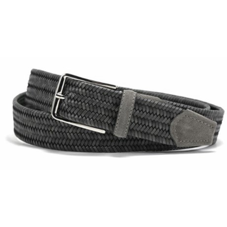 Bill Lavin Leather Island Quinton Braided Belt - Calfskin (For Men) in Grey