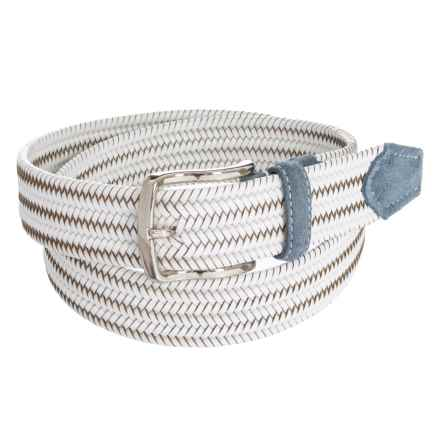 Bill Lavin Leather Island Quinton Braided Belt - Calfskin (For Men) in White - Closeouts