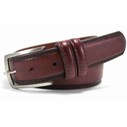 Bill Lavin Leather Island The Stoldo Belt - Leather in Red - Closeouts