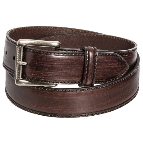Bill Lavin Leather Island Vintage Belt (For Men) in Brown/Black