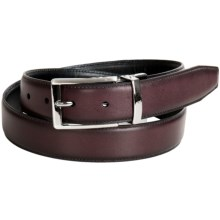 Bill Lavin Leather Reversible Belt - Gunmetal Twist Buckle (For Men) in Burgandy/Black - Closeouts