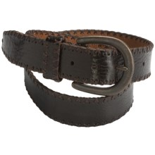 Bill Lavin Licorice Leather Belt (For Men) in Brown/Black - Closeouts