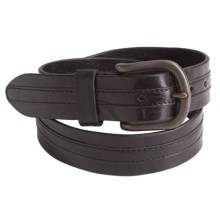 Bill Lavin Overlay Belt - Italian Leather (For Men) in Black - Closeouts