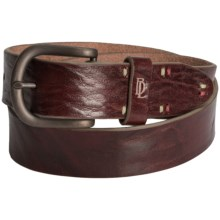 Bill Lavin Signature Ultimate Basic Belt - Italian Leather (For Men) in Cognac - Closeouts