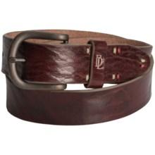 Bill Lavin Signature Ultimate Basic Belt - Italian Leather (For Men) in Cognac - Closeouts