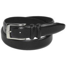 Bill Lavin Soft Collection Calfskin Belt - 32mm (For Men) in Black - Closeouts