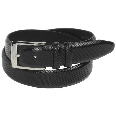 Bill Lavin Soft Collection Calfskin Belt - 32mm (For Men) in Black