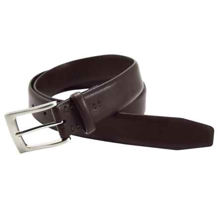 Bill Lavin Soft Collection Leather Non-Stitched Belt (For Men) in Brown - Closeouts