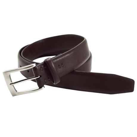 Bill Lavin Soft Collection Leather Non-Stitched Belt (For Men) in Brown