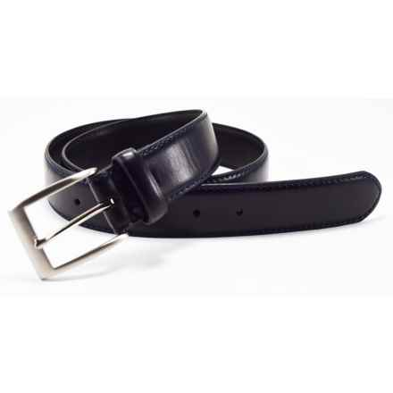 Bill Lavin Soft Collection Soft Leather Feather-Edge Belt (For Men) in Black - Closeouts