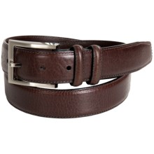 Bill Lavin Tumbled Leather Casual Belt (For Men) in Brown - Closeouts