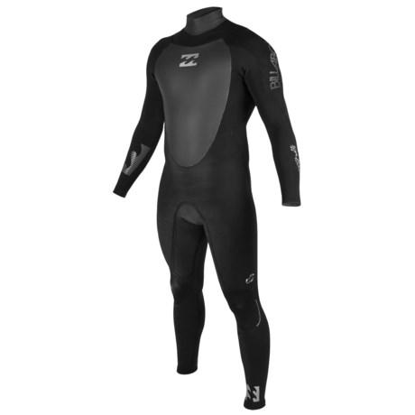 Billabong 302 Platinum B9 Wetsuit - 3mm, Back Zip, Long Sleeve (For Men) in Black