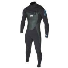 Billabong 403 B9 Chest Zip Wetsuit - 4mm (For Men) in Black - Closeouts