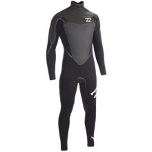 Billabong 403 Sol SG5 Chest Zip Full Wetsuit -  4/3mm, Long Sleeve (For Men) in Graphite - Closeouts