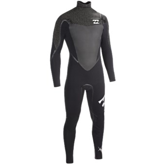 Billabong 403 Sol SG5 Chest Zip Full Wetsuit -  4/3mm, Long Sleeve (For Men) in Graphite