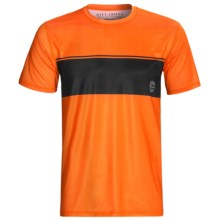 Billabong Adrift Rash Guard - Short Sleeve (For Men) in Neon Orange - Closeouts