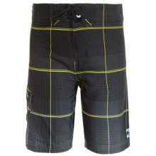 Billabong All Day Plaid X Boardshorts (For Little Boys) in Black - Closeouts