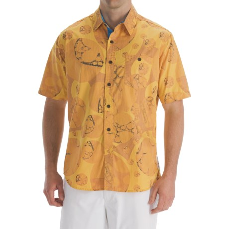 Billabong Andy Davis Bali Shirt - Organic Cotton, Short Sleeve (For Men) in Mustard