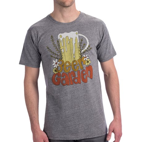 Billabong Andy Davis Barrel T-Shirt - Organic Cotton, Short Sleeve (For Men) in Beer Garden Dark Grey Heather