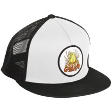 Billabong Andy Davis Beer Garden Trucker Hat - Organic Cotton (For Men) in White/Black - Closeouts