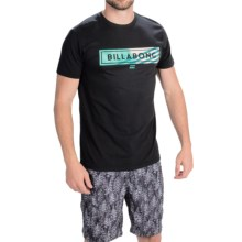Billabong Blocked T-Shirt - Short Sleeve (For Men) in Black - Closeouts