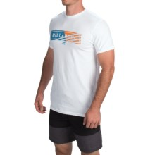 Billabong Blocked T-Shirt - Short Sleeve (For Men) in White - Closeouts