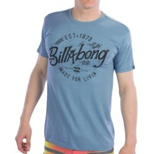 Billabong Blue Collar T-Shirt - Recycled Materials, Short Sleeve (For Men) in Light Steel Heather - Closeouts