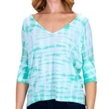 Billabong By My Side Shirt - V-Neck, 3/4 Sleeve (For Women) in Mo Mint - Closeouts