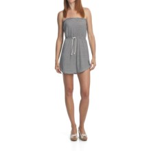 Billabong Count On You Bandeau Rope Dress - Drawcord Waist, Sleeveless (For Women) in Black/White - Closeouts