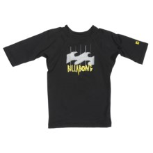 Billabong Creature Rash Guard Shirt - UPF 50, Short Sleeve (For Little Kids) in Black - Closeouts