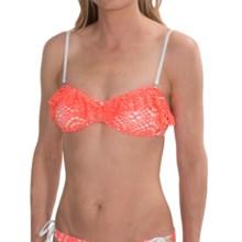 Billabong Crochet Bandeau Bikini Top (For Women) in Neon Coral - Closeouts
