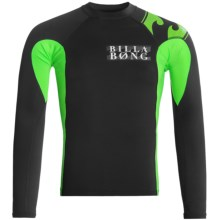 Billabong Double Duty Rash Guard - Long Sleeve (For Men) in Black - Closeouts