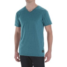Billabong Essential Shirt - V-Neck, Short Sleeve (For Men) in Dark Teal Heather - Closeouts