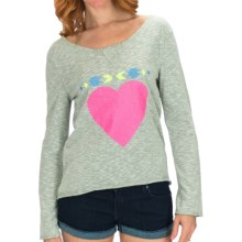 Billabong Hitch a Ride Pullover - French Terry, Long Sleeve (For Women) in Ice Athletic Grey - Closeouts