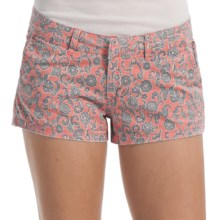 Billabong Keep On Shorts - Stretch Cotton Twill (For Women) in Georgia Peach - Closeouts