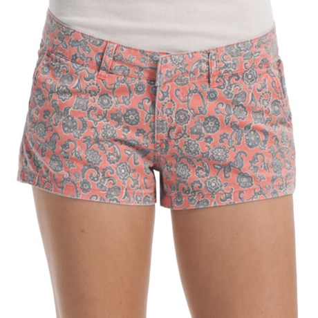 Billabong Keep On Shorts - Stretch Cotton Twill (For Women) in Georgia Peach