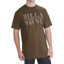 Billabong Long Hand T-Shirt - Organic Cotton, Short Sleeve (For Men) in Dark Brown - Closeouts