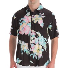Billabong Magnum Floral Shirt - Short Sleeve (For Men) in Black - Closeouts