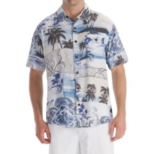Billabong Peace N' Aloha Shirt - Short Sleeve (For Men) in Blue - Closeouts