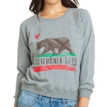 Billabong Rebel Gypsy Sweatshirt - Long Sleeve (For Women) in Dark Athletic Grey - Closeouts