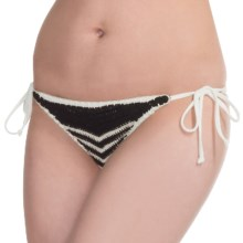 Billabong Rena Crochet Tropic Bikini Bottoms (For Women) in Seashell - Closeouts