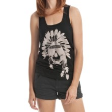 Billabong Screenprint Racerback Tank Top - Organic Cotton (For Women) in Peace Surf Black - Closeouts