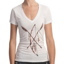 Billabong Screenprint T-Shirt - Short Sleeve (For Women) in Dreamcatcher White - Closeouts