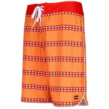 Billabong Sergio Stretch Boardshorts (For Men) in Hot Mango - Closeouts